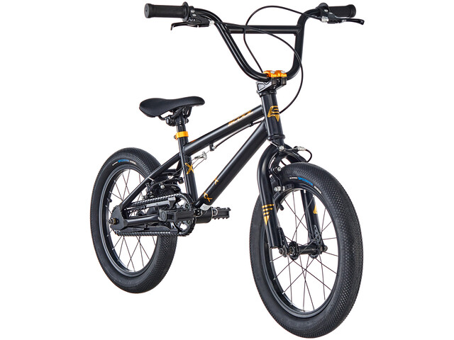 s'cool XtriX mini 16 Børnecykel sort/guld (2019) | City-cykler